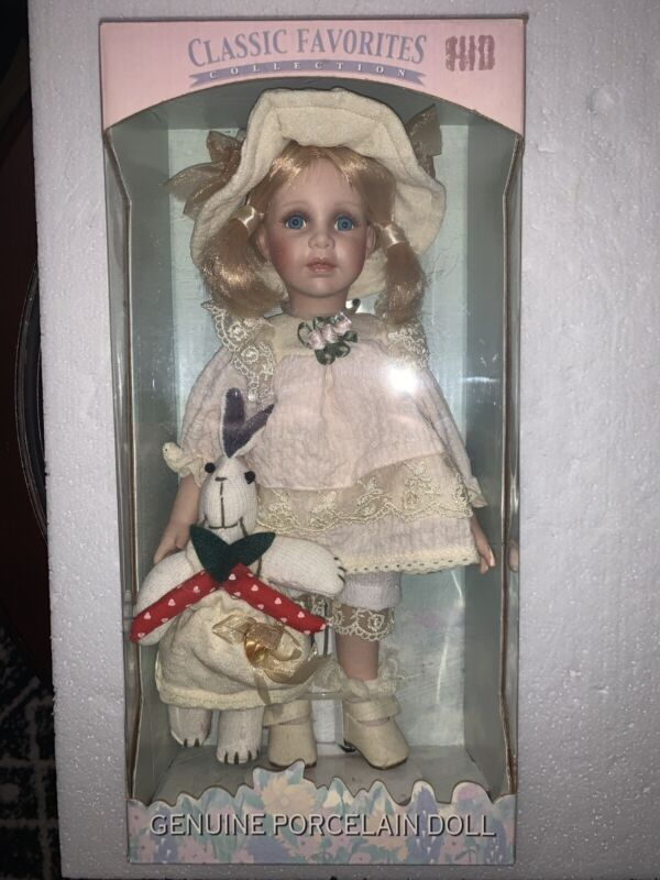 Classic Favorites Collection Genuine porcelain Doll in box
