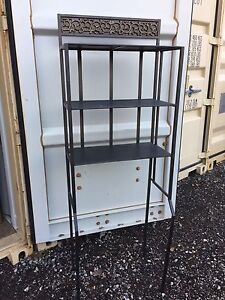 Grey/dull black metal washroom/bathroom storage shelving unit  London Ontario image 2
