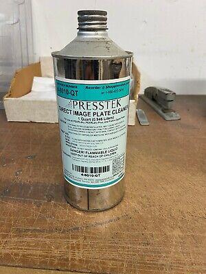 Presstek Di Plate Cleaner 4-8010-qt 1 Quart