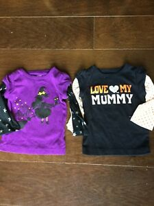 Girls HALLOWEEN  shirts 6m