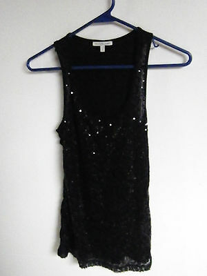 CHARLOTTE RUSSE LADIES SIZE XS TANK TOP PULL OVER WITH SEQUINS FRONT SHINY