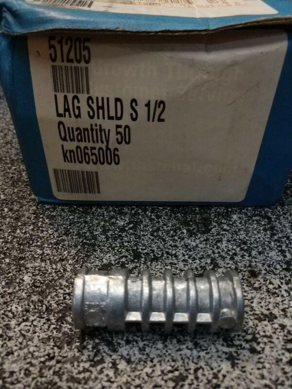 "1/2"" Size 2"" Long Lag-Shield Anchor 50ct Fastenal 51205"