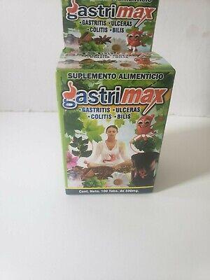 Gastrimax Tablets Gastritis Colitis Ulceras Bilis Acidez Agruras 100% Natural