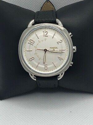 Fossil Q FTW1200 Women's Black Leather Analog Dial Wrist Hybrid Smart Watch HK35