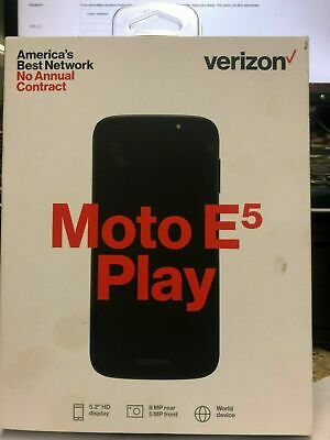 Verizon Prepaid - Motorola Moto E5 Play Smartphone Prepaid Cell Phone -.. NEW.
