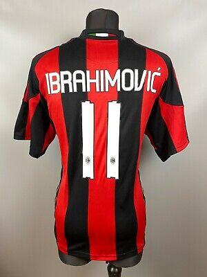 AC MILAN 2010/2011 IBRAHIMOVIC HOME FOOTBALL SOCCER JERSEY SHIRT ADIDAS SIZE XL image