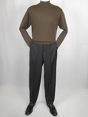 Mens Inserch Mock Neck Pullover Knit Soft Cotton Blend Sweater Winter 4308 Brown ()
