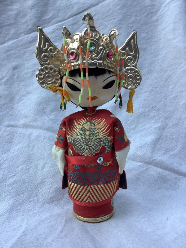"""Vintage Chinese Peg Doll 5.5"""" Made in Taiwan"""