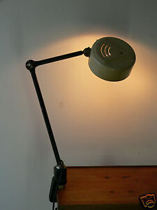 lampe ancienne atelier industriel usine a tau rotule light industrial gras ebay. Black Bedroom Furniture Sets. Home Design Ideas