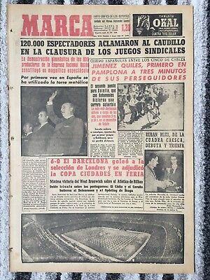 1958 FAIRS CUP FINAL Barcelona v London X1 + ATHLETIC BILBAO v WEST BROM (MARCA)