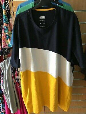 JACAMO block colour t-shirt   3XL  LONG bnip  BIG&TALL