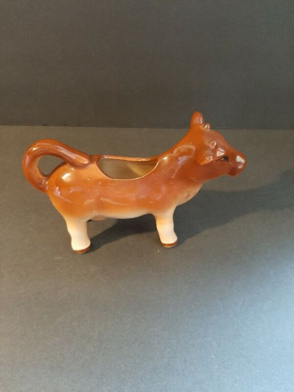 Cow Milk Creamer Made in Japan Brown Cow Pitcher