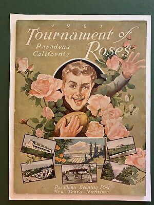 1921 Tournament of Roses Program segment Ohio State v CAL historic football game - Ohio State Historic Football