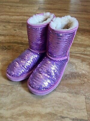 Sparkle Uggs Kids (Ugg Girls Boots Pink Sequin Sparkle Uggs Kids)