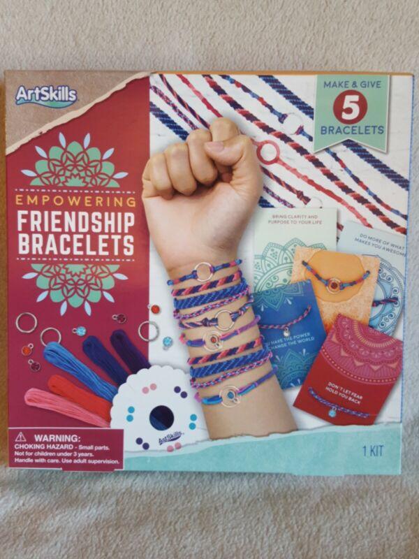 ArtSkills Empowering Friendship Bracelets (5) Making Kit Age 6+ New