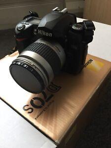 Nikon D70s DSLR with 28-80 mm lens, charger, mini tripod & more