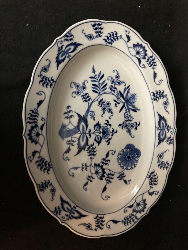 "Vintage Blue Danube Onion 11.5"" Serving Platter Scalloped"