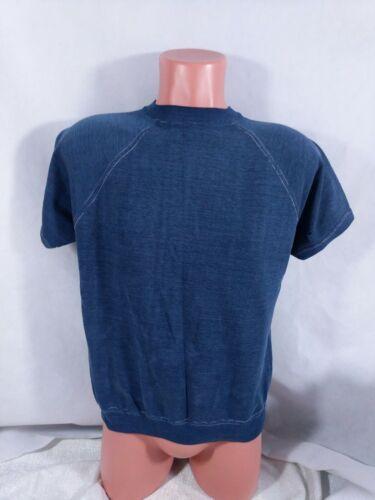Vtg 70s 80s Short Sleeve Sweatshirt Sz S/M Faded Worn Read