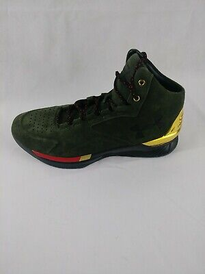 Under Armour Steph Curry 1 Lux Mid SDE Olive Dark Green 1296617-330 Mens Sz 10.5 - Mid Dark Olive