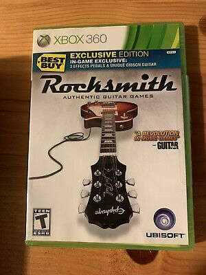 ROCKSMITH AUTHENTIC GUITAR GAMES XBOX 360 BEST BUY EXCLUSIVE ED. UBISOFT (Best Xbox 360 Games)