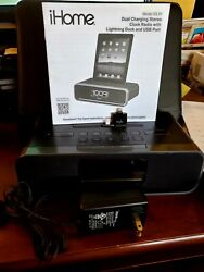 iHome iDL91 Stereo FM Clock Radio W/ Lightning Dock for iPhone/iPad/iPod