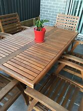 Great Wooden Outdoor Setting $480.00 Reduced! Riverstone Blacktown Area Preview