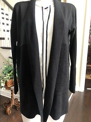 Lululemon Black Sweater Cardigan Merino Wool Black Size 2