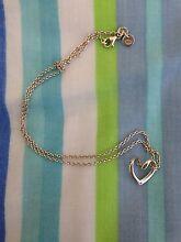 Silver love heart necklace Coogee Eastern Suburbs Preview