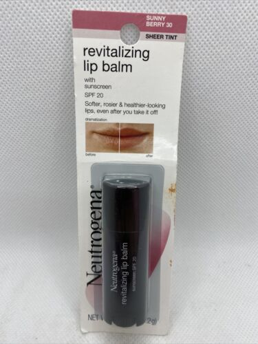 Neutrogena Revitalizing Lip Balm SPF 20, Fresh Plum , 0.15 o