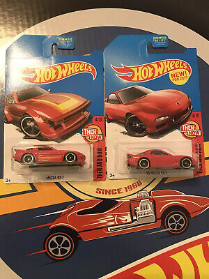 2017 Hot Wheels Mazda RX-7 and '95 Mazda RX-7 Red Lot Kmart Exclusive