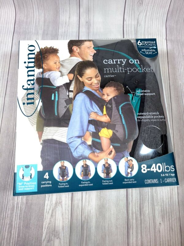 Infantino Carry On Multi-Pocket Carrier Toddler / Baby 8-40lbs Sling Backpack