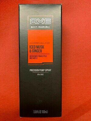AXE MEN SIGNATURE DAILY FRAGRANCE ICED Musk & GINGER PUMP SPRAY 100ml 3.4oz