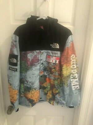 North Face Supreme World Map Expedition Coat Jacket - Medium