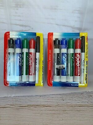 Expo Low Odor Dry Erase Markers - Chisel Tip 8 Ultra Fine Tip 2 Lot Of 10