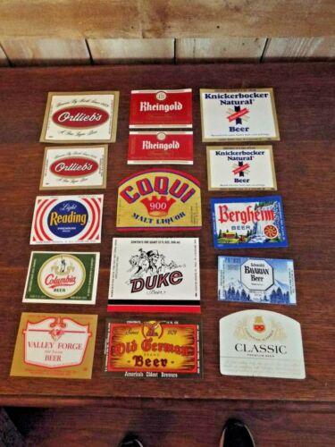 Vintage Lot of 15  Unused Assorted Beer Labels