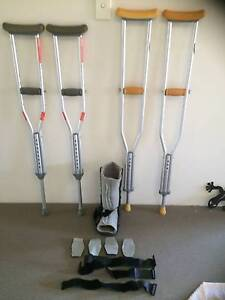 crutches and moon boot  $60.00 the lot Bayswater Knox Area Preview