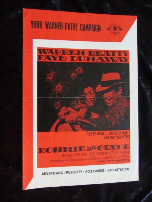 BONNIE AND CLYDE original press book WARREN BEATTY, FAYE DUNAWAY