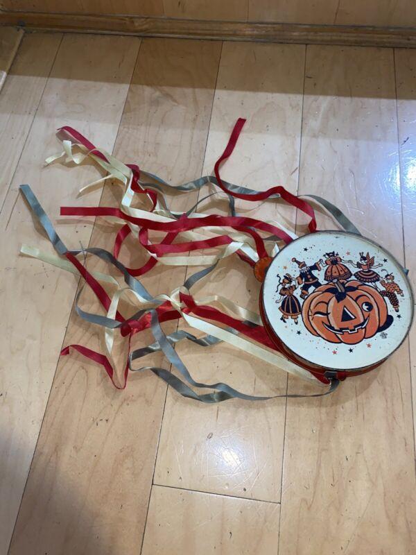 Vintage Tin Halloween Tambourine