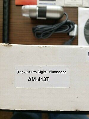 Tested Working Dino-lite Pro Handheld Digital Microscope Am413t Microtouch