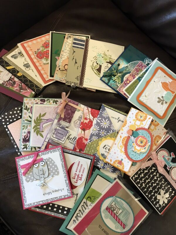 Stampin Up Handmade Cards Set of 25 Full Cards Lot 1