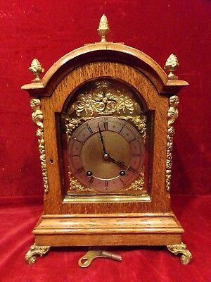 Bracket Mantel Clock by Winterhalder Hofmeier W&H Quarter Strike
