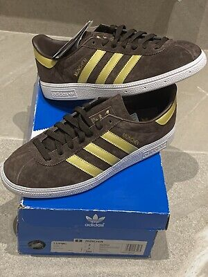 ADIDAS MUNCHEN BROWN AND GOLD BRAND NEW IN BOX! SIZE 7!