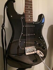Fender Squier Strat w/upgraded Lollars & Babicz Trem