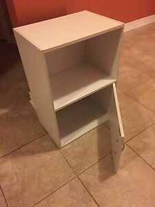 Small white cabinet, bed side table or storage