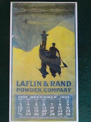 Laflin & Rand Gun Powder Company 1905 Calendar Poster No pad Philip R Goodwin