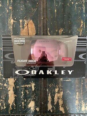 Oakley Flight Deck Snow Goggles Ski Snow Boarding Black w/ Prizm Hi Pink Iridium