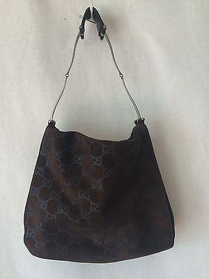 GUCCI Brown Suede Classic Guccissima Shoulder Bag