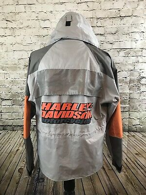 Windbreaker Motorcycle - Harley Davidson Mens Motorcycle Reflective Rain Windbreaker Jacket Only Medium