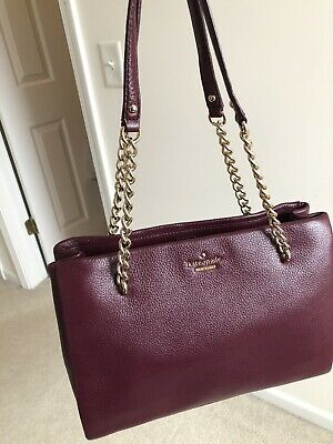 Kate Spade Emerson Place Smooth Phoebe Leather Tote Bag Mahogany NWOT