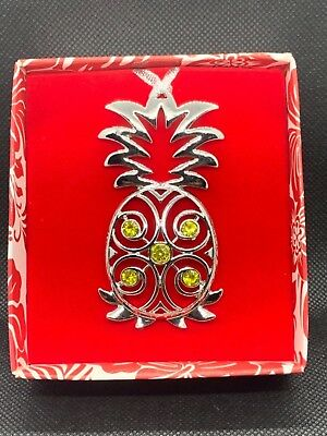 Christmas Pineapple - Christmas Jewel Metal Ornament Pineapple Hawaii